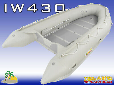 4.3m ISLAND INFLATABLE BOAT ✱ WOOD FLOOR ✱ Durable Thermo Welded Seam 3YRW 1