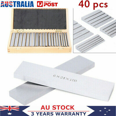 20 Pairs 40Pcs Parallel Pad Gauge Block Alloy Steel CNC Milling Pads Set
