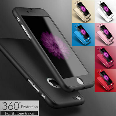 For iPhone 6 7 8/Plus XR XS/Max X Case Shockproof 360° Bumper Hybrid Phone Cover
