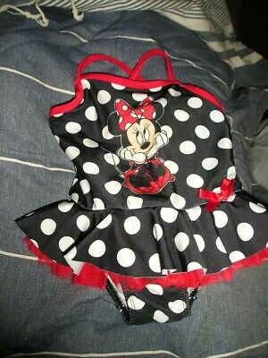 Girls' DISNEY BABY MINNIE MOUSE Polka Dot TUTU SWIMSUIT sz 24M NWOT