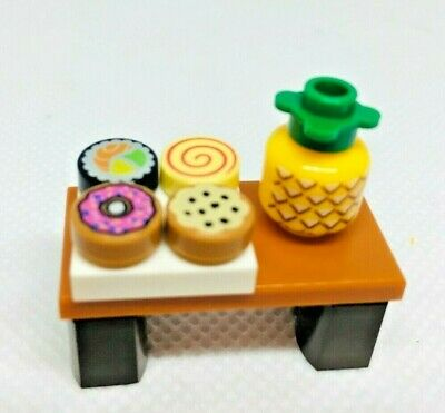 NEW Lego Lot//2 Minifig LOLLIPOP Candy Friends White Red Swirl Tile Kitchen Food