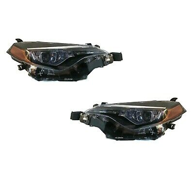 New Aftermarket Headlight Lamp Pair For 2017-2019 Toyota Corolla L Le Le Eco