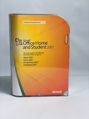 Microsoft Office Home and Student 2007 GENUINE Retail Win 7 8 10 With Key