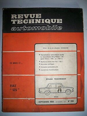 FIAT 125 - Revue Technique Automobile
