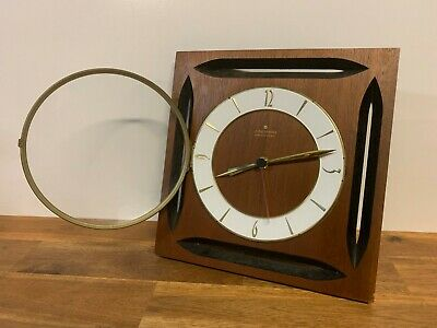 Vintage Junghans Electronic Wooden Wall Clock Made In Germany