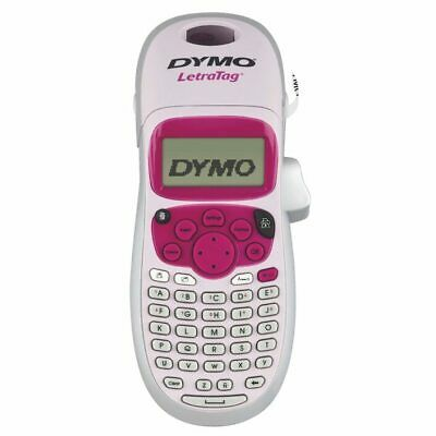 Brand New DYMO LT-100H Personal Label Maker with 1 refill label Pink