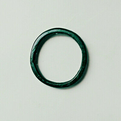 Ancient Celtic Bronze Ring Proto - Money Coin BC