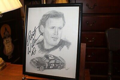"""REDUCED Dale Earnhardt 34/""""x24/"""" signed by artist George Bartell"""