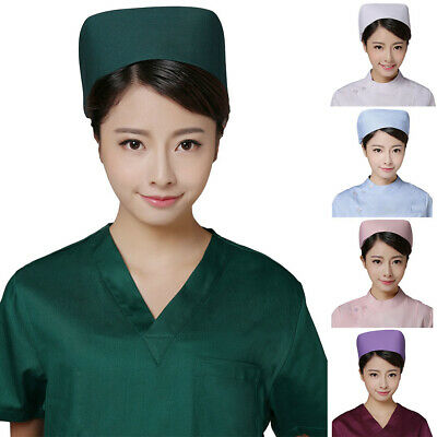 BL_ ID- Hospital Women Solid Color Nurse Uniform Hat Back Button Cosplay Costume
