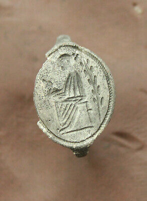 Ancient Greek Silver Intaglio Seal Ring l Int. 12/15mm 1,7gr Very Rare