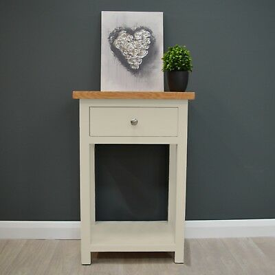 Cotswold Cream Painted Oak Telephone Table / Console /Small /Hall /Solid Wood