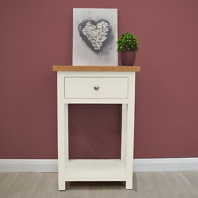 Belgravia White Painted Oak Telephone Table / Console /Small Hall / Solid Wood