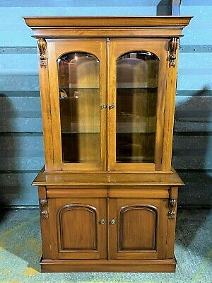Stunning Simbeck antique Victorian style mahogany display cabinet dresser buffet