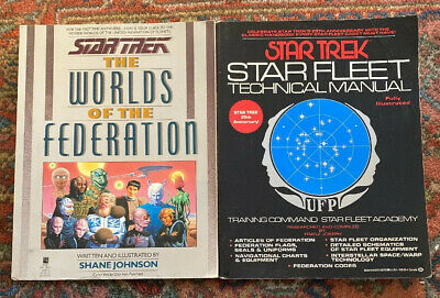 Lot Of 2 Star Trek Books—Technical Manual, The Worlds Of The Federation