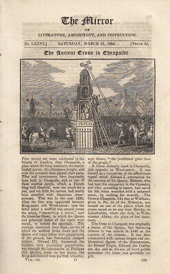 The Ancient Cross in Cheapside. A complete rare weekly issue of the Mirr. 314798