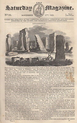 Stonehenge; Of Value, Part I & II., The White Tiger; On the Food of the Ancients