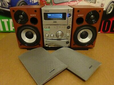 Sony Cmt-Cpz1 Dab Micro Hifi Component System Dab Radio Cd Mp3 Ss-Cpz1 Speakers