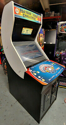 """PGA Tour Golf Challenge Full Size Arcade Game! Works Great! 27"""" LCD!"""