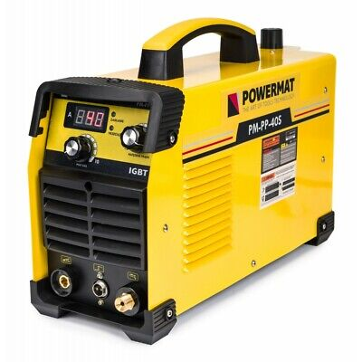 Powermat Plasma Cutter 40A Inverter IGBT HF Max Thick 12mm cut 230V Cut Range 10