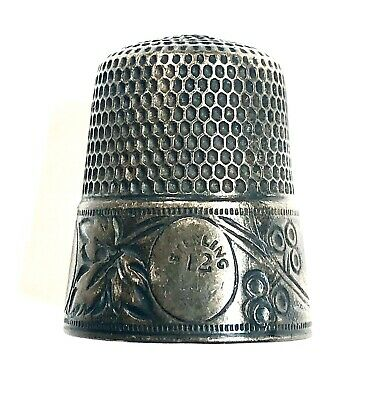 Simons Brothers Antique Victorian Sterling Silver Sewing Thimble
