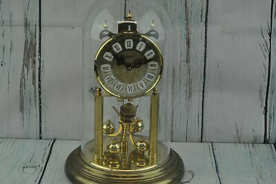 Vintage Haller4 00 Day Anniversary Clock and Dome 12 X 8 Inches - No Key