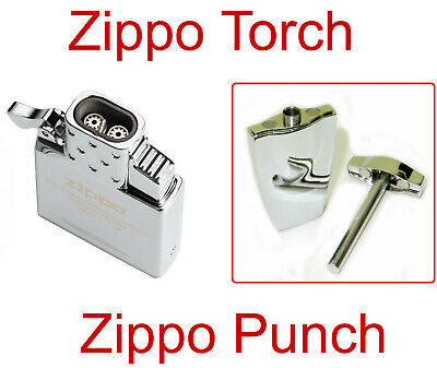 Zippo Lighter Cigar Upgrade Dual Jet Butane Torch Insert And Bonus Zippo Punch!