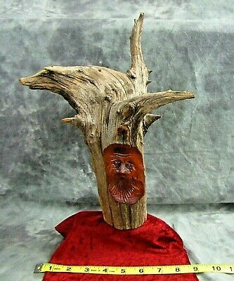 Vtg. Collectible Signed Pete Cobb Wood Carving In A Wonderful Piece Of Wood !!