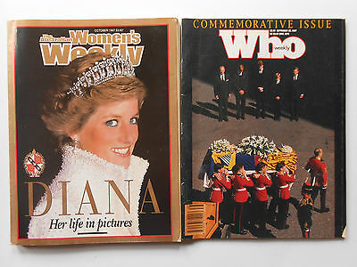 ## Women's Weekly & Who Magazine - Princess Diana - Her Life & Death, Funeral