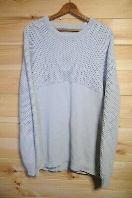 Tiger of Sweden Jumper Sweatshirt Knitted Cotton Large Light Grey