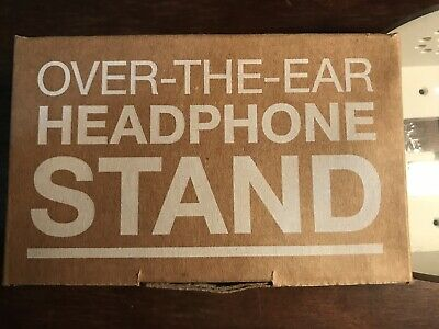 Heckler Design Over-The-Ear-Headphone Stand Color Gray White Hand Welded Steel