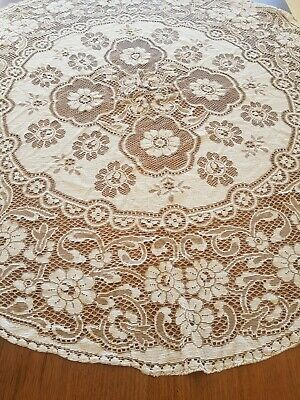 Beautiful Vintage Tablecloth Round