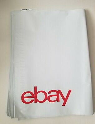 "eBay-Branded Polymailer With RED Print 10"" x 12.5"" (No padding) 15 ENVELOPES"