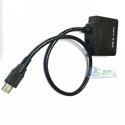"USB 3.1 Type C to SATA 22 Pin 2.5"" Hard disk driver SSD Adapter Cable for Laptop"