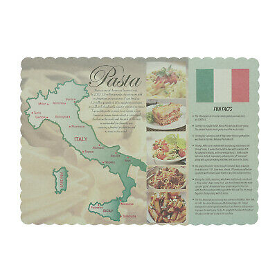 Royal Spaghetti Design Disposable Placemats, Pack of 1000, PMSPAG-4