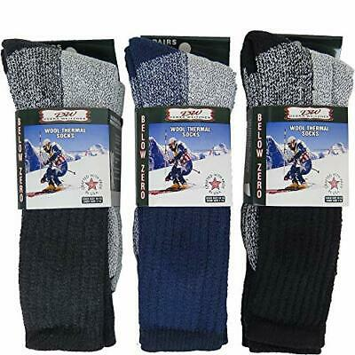 6 Pairs Mens Womens Wool Socks Mens 10-15 (men's shoe size 7-14) Assorted a