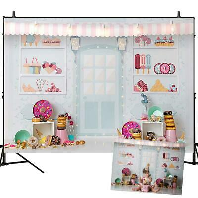 Photography Backdrop Cake Ice Cream Birthday Baby Shower Party Background Decor