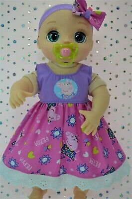 """Dolls Clothes For 17"""" Baby Alive Real As Can Be PLAIN/PATTERN DRESS~HEADBAND"""