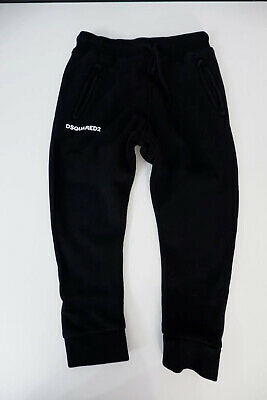 Dsquared2 Dsq Black Jogging Bottoms Age 6 Years Excellent Condition