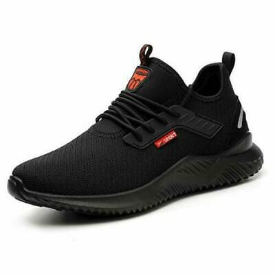 Black Safety Shoes for Men Women Steel Toe Trainers Sport Lightweight Work Shoes