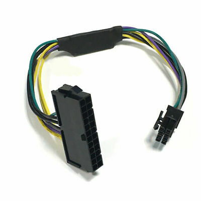 ATX Power Supply Adapter Cable 24 Pin To 8 Pin For DELL Optiplex 3020 7020 9020