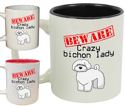 Personalised BEWARE CRAZY BOXER LADY Mug CupNovelty Dog Lover Gift Pet