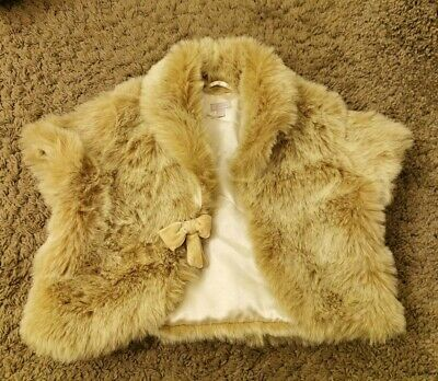 Monsoon Fur childs sleeveless jacket for wedding excellent condition age 8 to 10