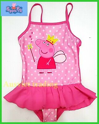 brand NEW PEPPA PIG GIRLS KIDS SWIMWEAR SWIM SUIT SWIMMING BATHER swimsuit 1pc
