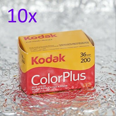 *BEST PRICE* 10x Kodak ColorPlus Color Plus 35mm film (12/2021)