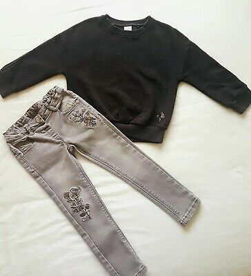 Girls Next Jumper And Nutmeg Jeans 3-4 Years