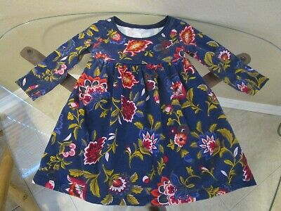 Old Navy Dress Baby Girl Navy Floral Long Sleeve 6-12 Mo