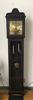 """Antique Grandfather Clock Colonial Manufacturing Co Zeeland, Michigan 78"""" Tall"""