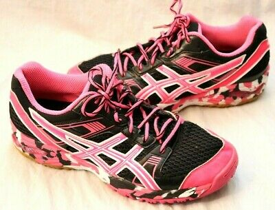 WOMENS ASICS GEL 1140V Volleyball Shoes Size 8.5 Purple Camo