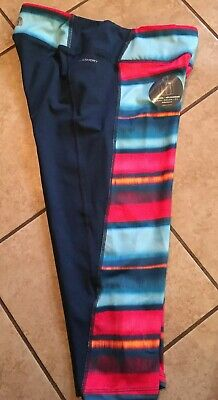 Girls The North Face 24/7 Capri Leggings Size X-Large, Navy,Aqua And Coral - NWT
