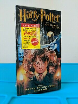 Harry Potter and the Sorcerers Stone (VHS, 2002) Mattel Sticker New/Sealed
